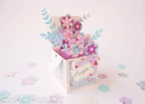 flower pop up card templates tutorial pop up card 3d flowers