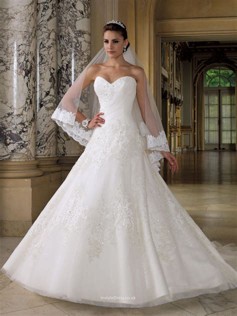 Uk Wedding by Sweetheart Strapless Wedding Dress Uk With Embroidered