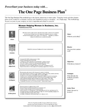 fill in the blank business plan template oprahcom one page business plan fill printable
