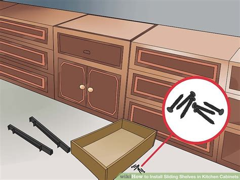 sliding shelves for kitchen cabinets how to install sliding shelves in kitchen cabinets with