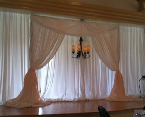 how to make a pipe and drape backdrop party people event decorating company magnolia building