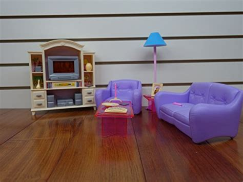 barbie size doll houses barbie size dollhouse furniture living room with tv dvd set show case toolfanatic com