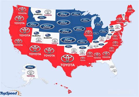 Most Popular Cars In The Us by Most Popular Searches For Car Brands Map