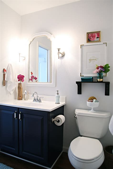 navy blue bathroom vanity remodelaholic best colors for your home navy blue