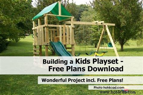 building a playset free plans