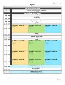 conference meeting agenda template conference agenda template sle format