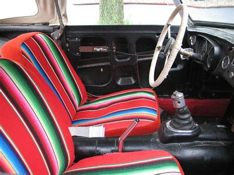 mexican blanket upholstery custom seat upholstery made from a mexican blanket ih