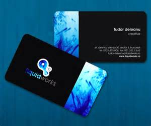 cool business cards cool business card design for liquid works