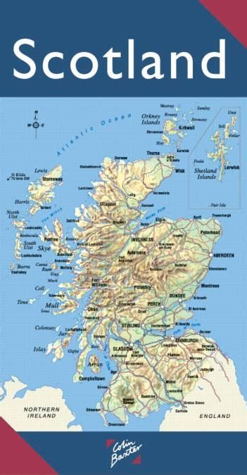 scotland pocket map books scotland map