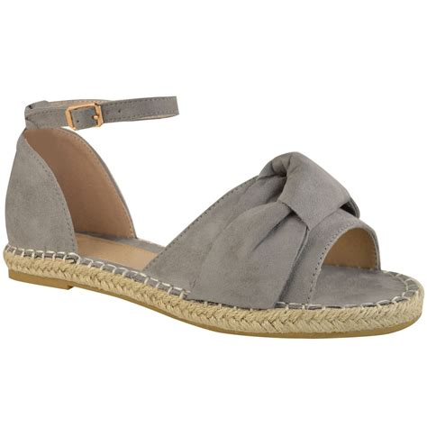 bow sandals womens flat espadrilles bow slippers sliders