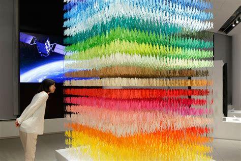 designboom installation paper art installation by emmanuelle moureaux at space in