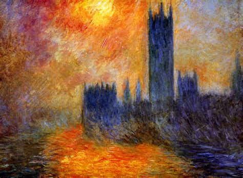 A Painting by Claude Monet Houses Of Parliament