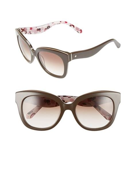 Brown Amberly by Kate Spade Amberly 54mm Cat Eye Sunglasses In Brown Lyst