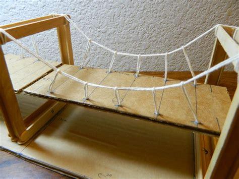 Popsicle Stick Suspension Bridge Simple Suspension Bridge Model 7