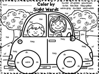 color by sight words freebies great for 1st 2nd grades