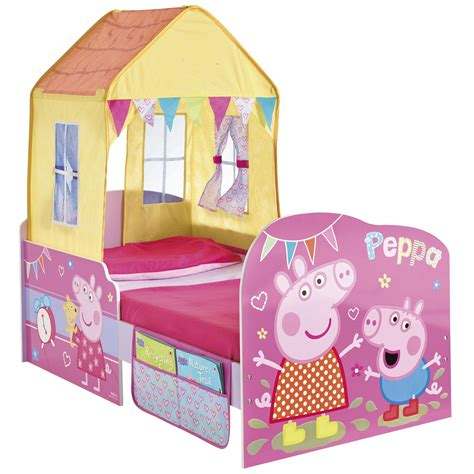 peppa pig toddler bedding peppa pig startime junior toddler feature bed new official ebay