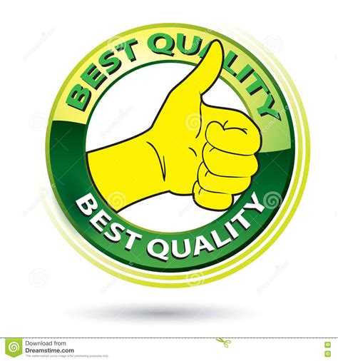 best thumbs thumb up best quality logo illustration stock vector