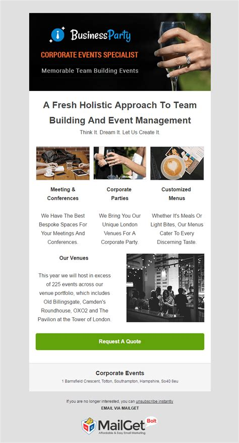Email Marketing 12 Best Event Email Templates 2018 Mailget Event Email Template