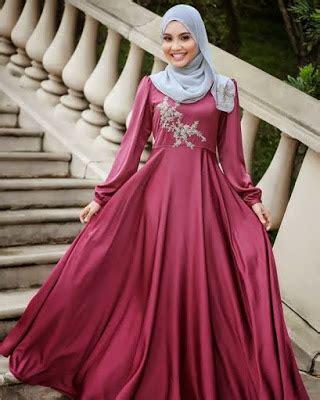 Gaun Pesta Ceruty Nadiah Dan Pashmina trend fashion masa kini di indonesia 2017 aonfashion