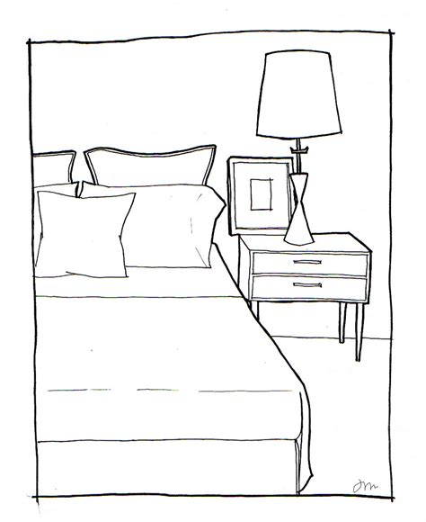 sketch of a bedroom bedroom drawing easy images