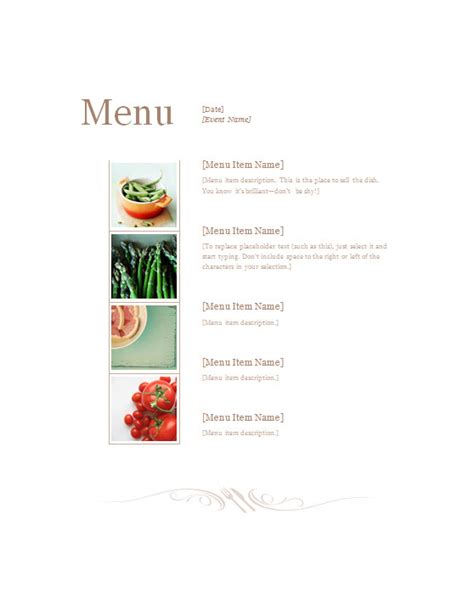 deli menu templates restaurant menu template 187 template