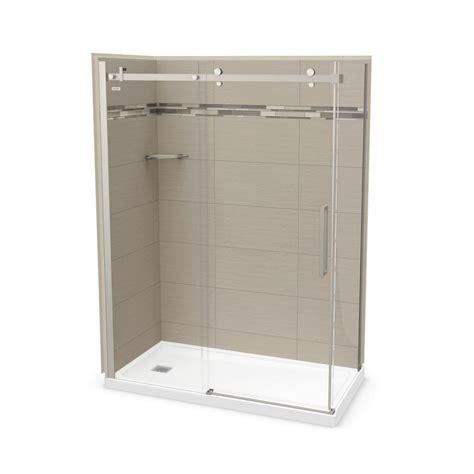 Direct Shower Door Reviews Utile By Maax 32 In X 60 In X 83 5 In Left Corner Shower Kit In Origin Greige With