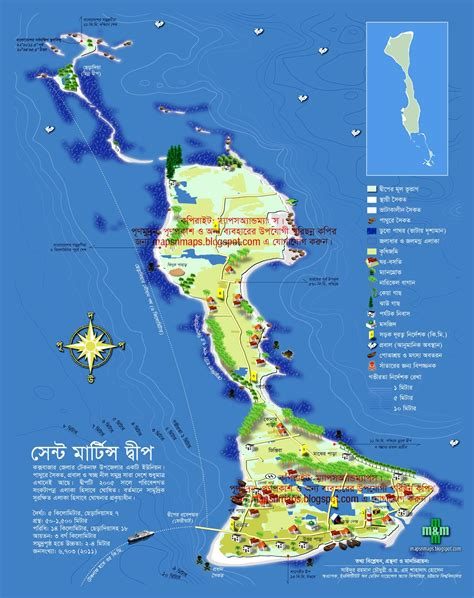 map of st and surrounding islands st martin s island bangladesh guide map maps maps