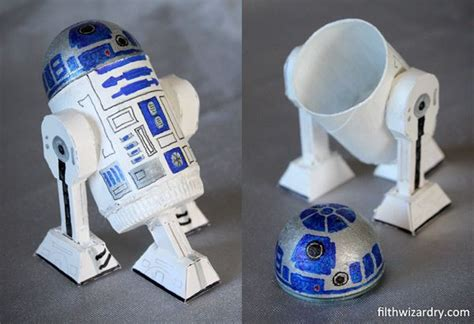 How To Make R2d2 Out Of Paper - how to r2d2 mini secret storage container from