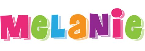 this melanie logo may be used anywhere description from