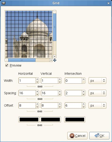 gimp making a grid 13 11 grid