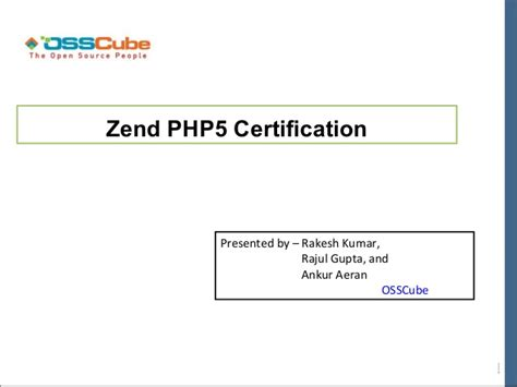php tutorial for zend certification zend php5 certification