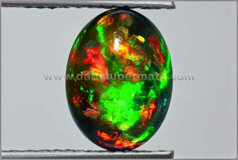 Black Opal Kalimaya 1 7 Ct 17 best images about opal gemstone batu kalimaya on