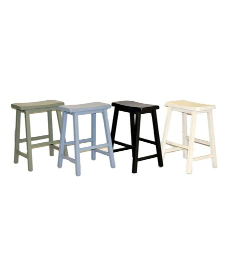 set of 2 wood saddle seat counter height stools kitchen