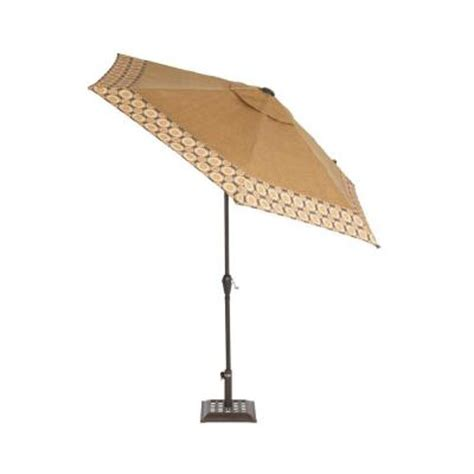 Martha Stewart Patio Umbrellas Martha Stewart Living Miramar Ii 9 Ft Patio Umbrella In With Trim Accent Ly58 Um The Home