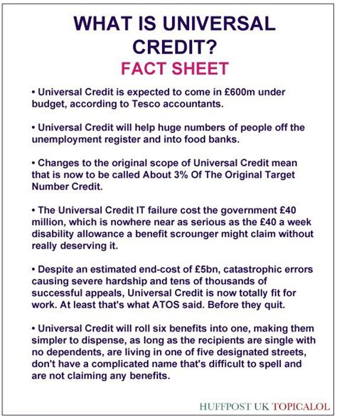 Universal Credit Award Letter Exle what is universal credit read our handy fact sheet