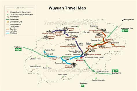 wuyuan maps jiangxi china main attractions