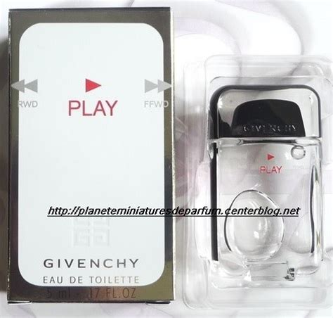 Givenchy Play Decant Parfum Original 5ml miniature play de givenchy edt homme sortie 2008