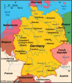 A Map Of Germany by Atlas Germany