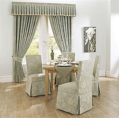 Fabric covered dining room