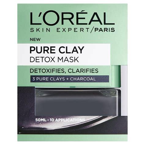 Superdrug Detox by L Oreal Clay Detox Mask 50ml Superdrug