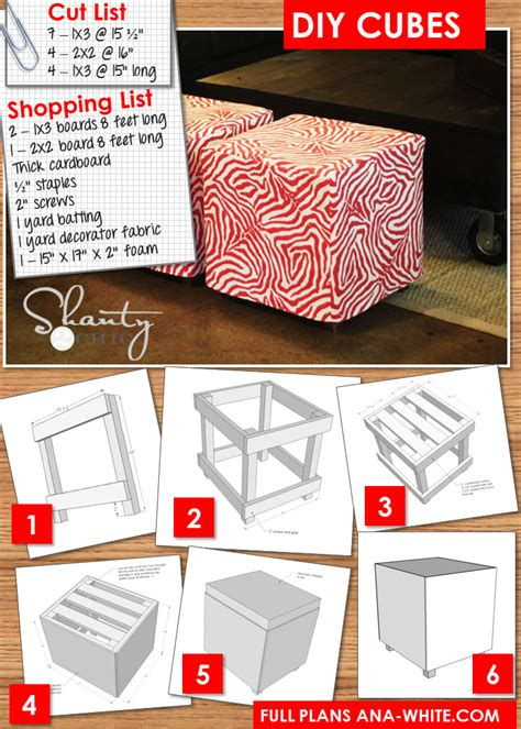 Diy Cube Chair by Diy 20 Ottoman Shanty 2 Chic