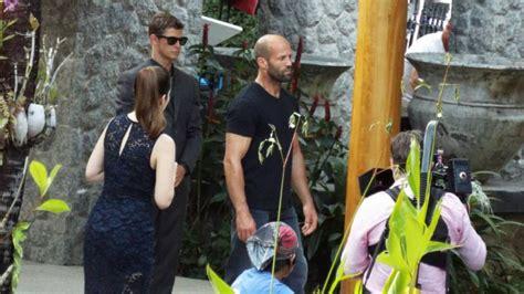 hollywood star jason statham filming  phuket