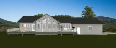 story house plans rear garage  sq ft one story house plans rear garage