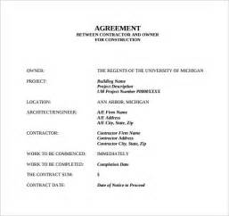 Agreement Templates Between Two by Doc 12751650 Contract Agreement Between Two