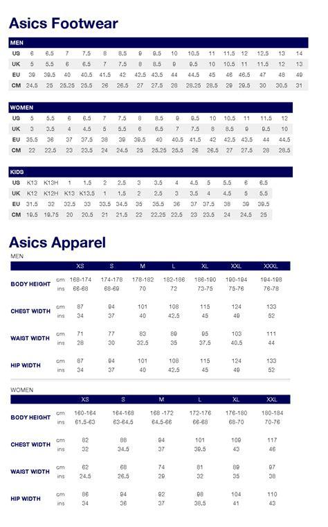asics shoe size chart dsrv66bx uk asics size chart clothing