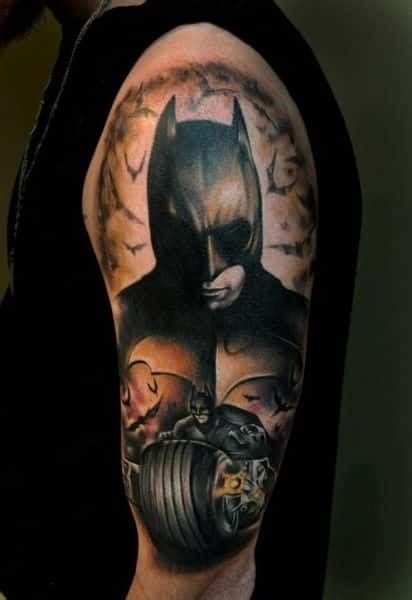 batman elbow tattoo batman tattoos for men ideas and designs for guys