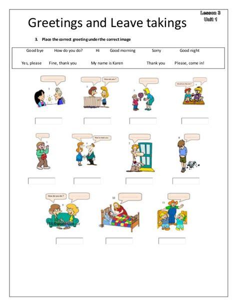 greetings worksheets for greetings worksheet