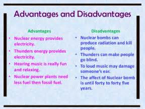 Nuclear Power Plant Advantages And Disadvantages Essay advantages and disadvantages of nuclear power other