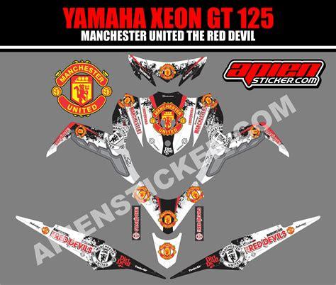 Sticker Striping Motor Stiker Yamaha Xeon Gt 125 Ducati 04 Qlty C striping motor xeon gt 125 manchester united apien sticker