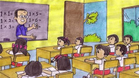 gambar tata ruang kelas sd guruku tersayang lagu anak indonesia youtube